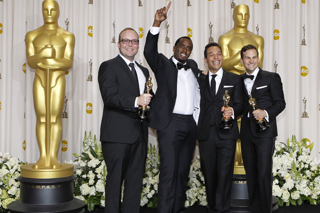 Producers Rich Middlemans and Sean Combs with directors TJ Martin and Dan Lindsay
