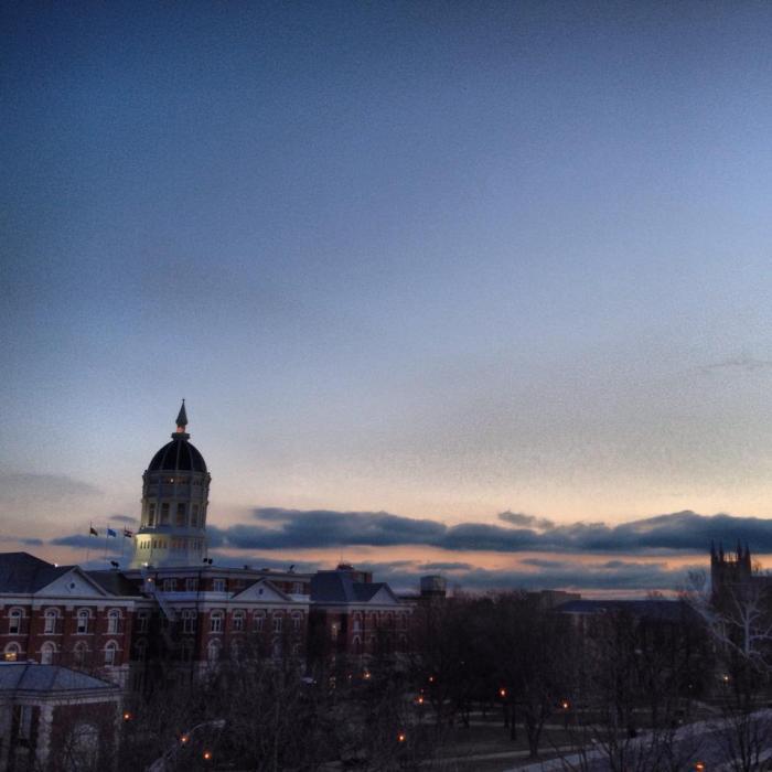 Sunrise on Mizzou campus