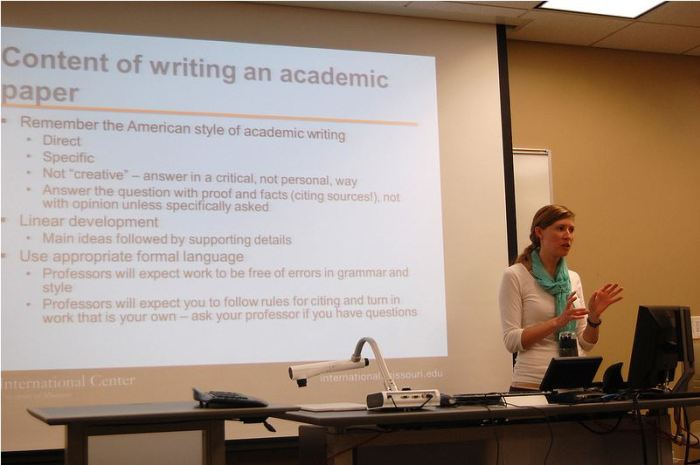 Instructor Flemming discussion on writing an academic paper