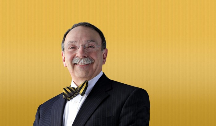 Chancellor R. Bowen Loftin challenged students to make snowmen that resembles him- bow tie included :)