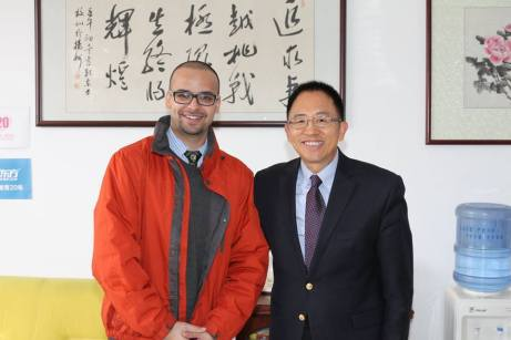Meeting with Principal Dr. Wang at Yangzhou, China.